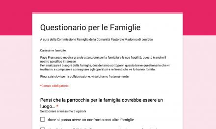 Questionario per le Famiglie