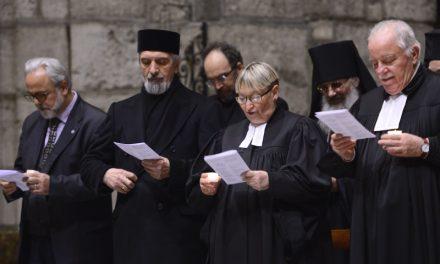 I cristiani pregano per l'unità