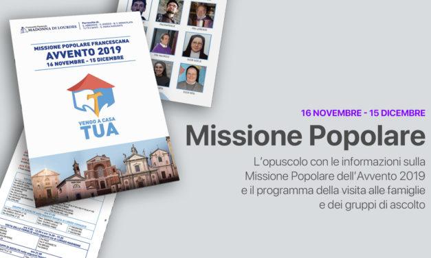 Libretto della Missione Popolare 2019