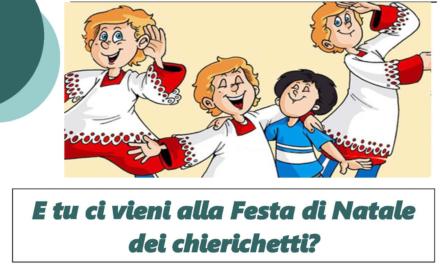 La festa di Natale dei Chierichetti