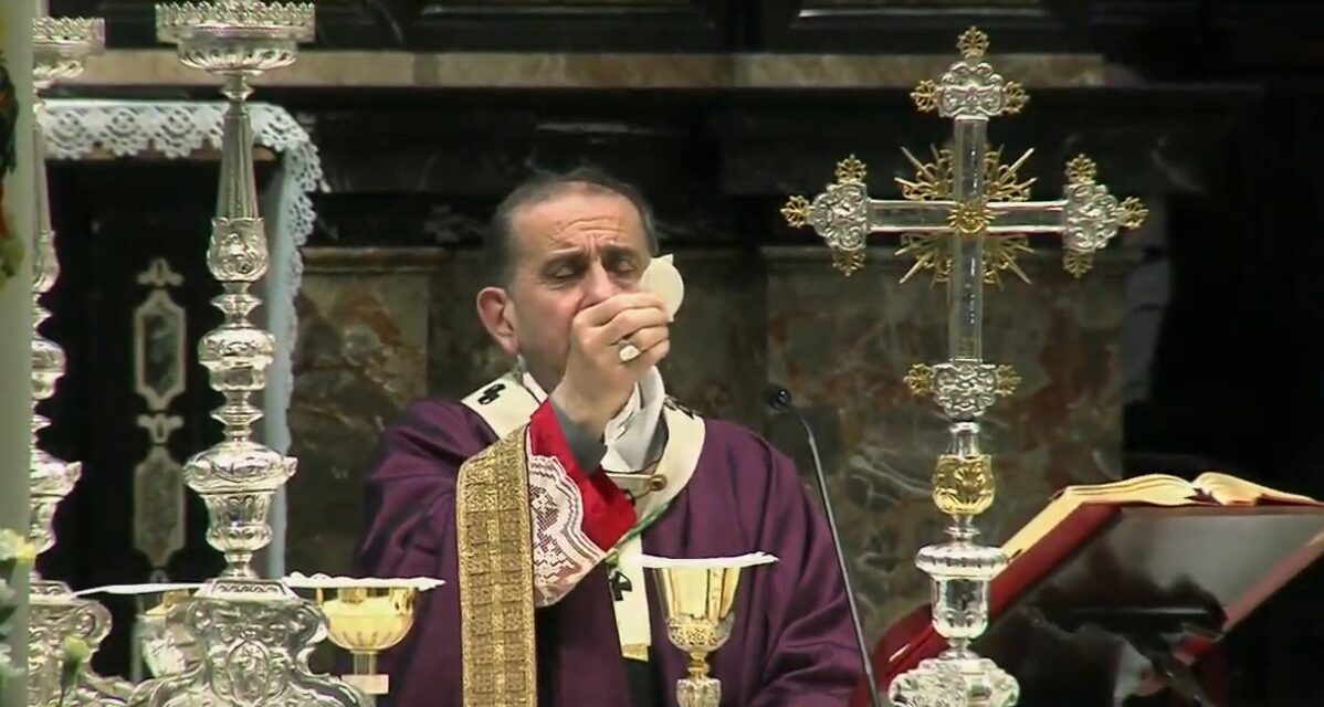 La Messa con l'Arcivescovo per le vittime del virus